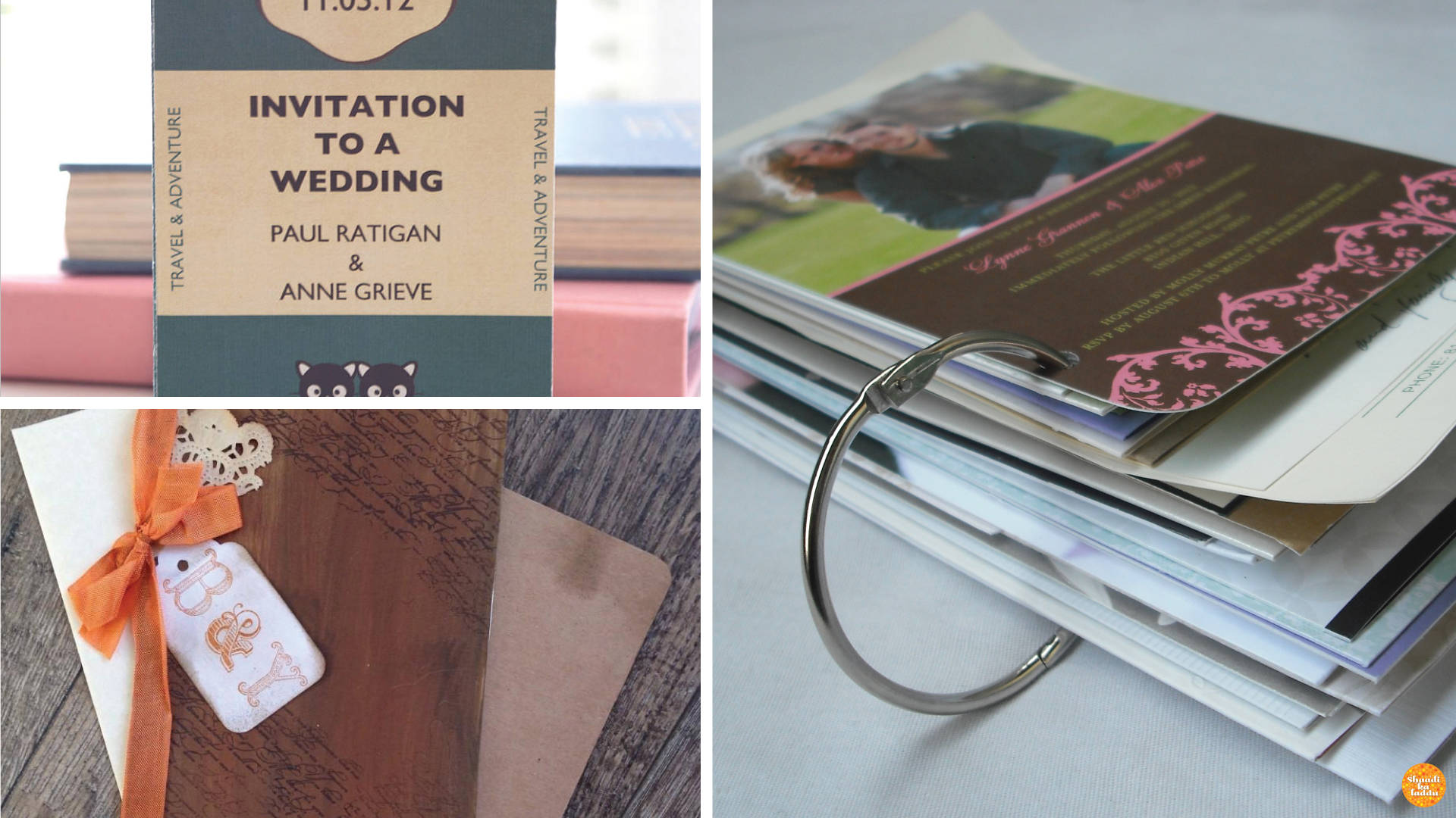 Wedding Invite Ideas for book lovers.