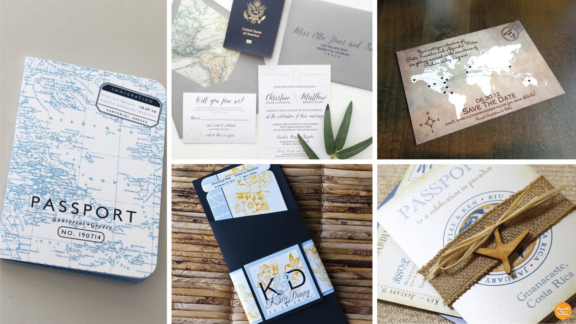 Invitation Ideas for destination wedding enthusiasts.
