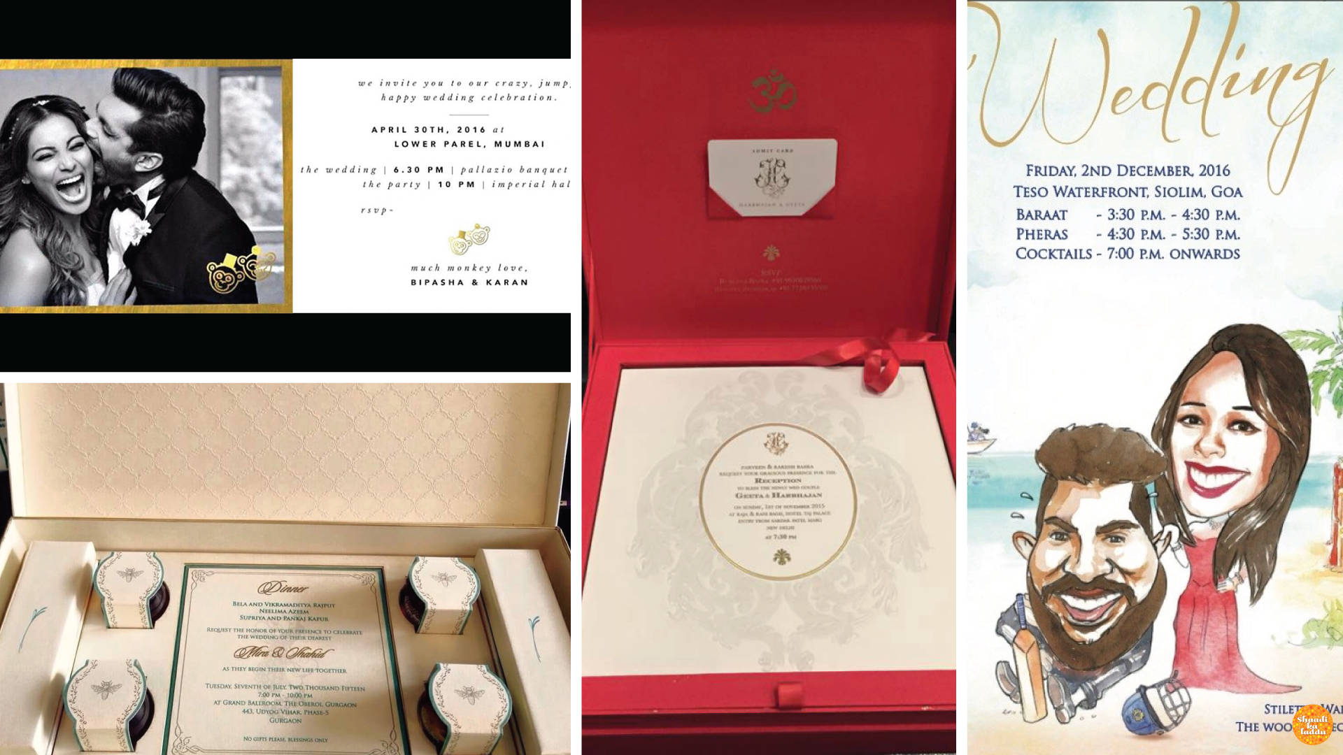 Celebrity Wedding Invitations stealing the show.