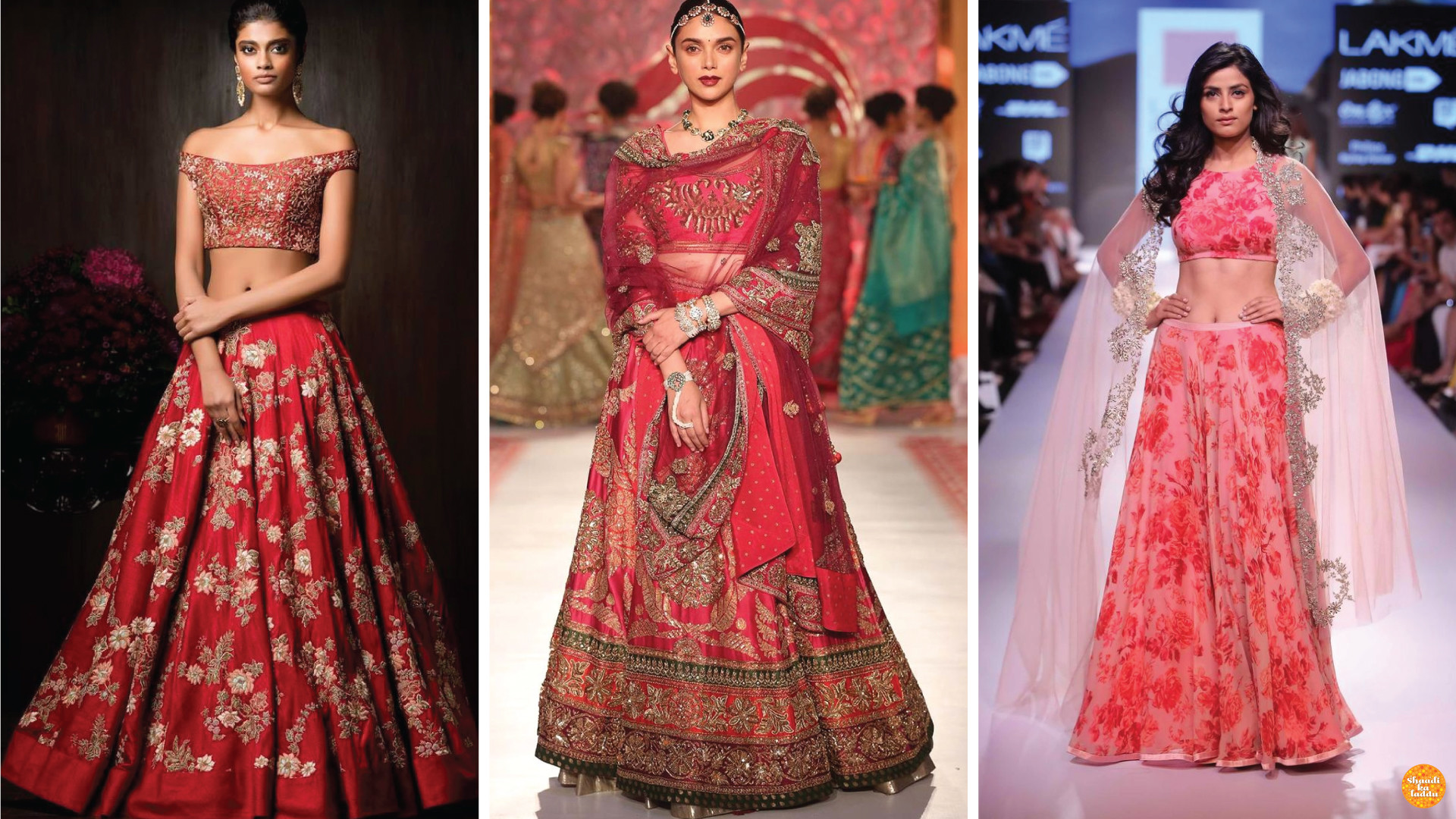 model wearing Expensive bridal lehengas