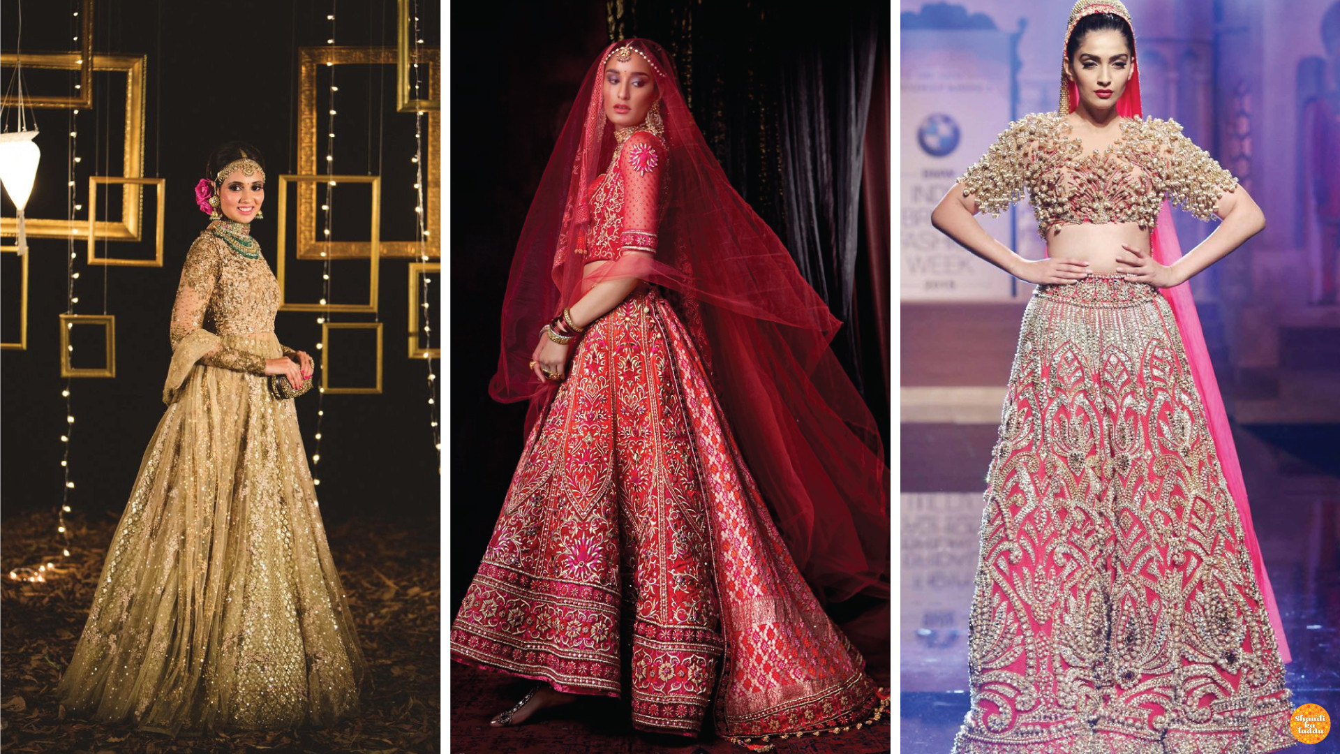 Expensive designer indian wedding lehenga with heavy work