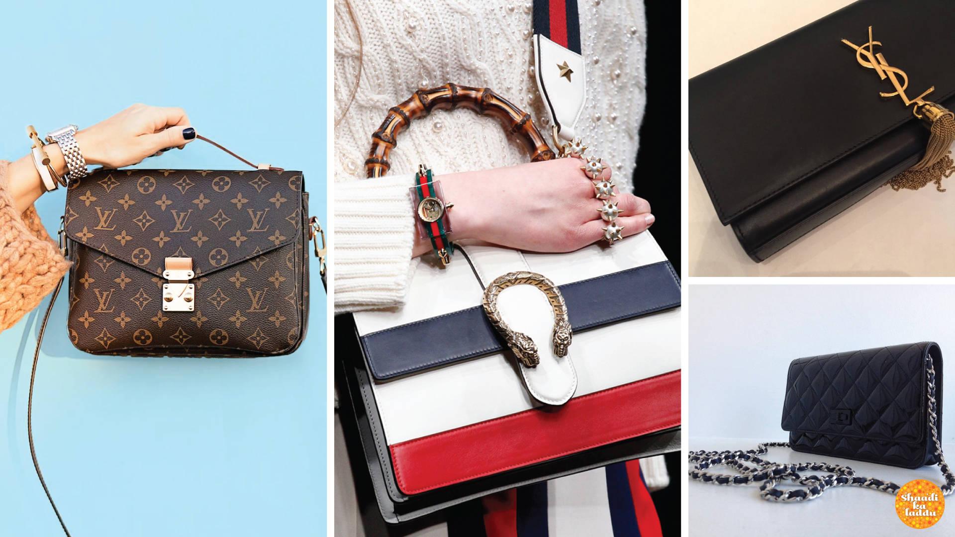 High end designer ladies handbags