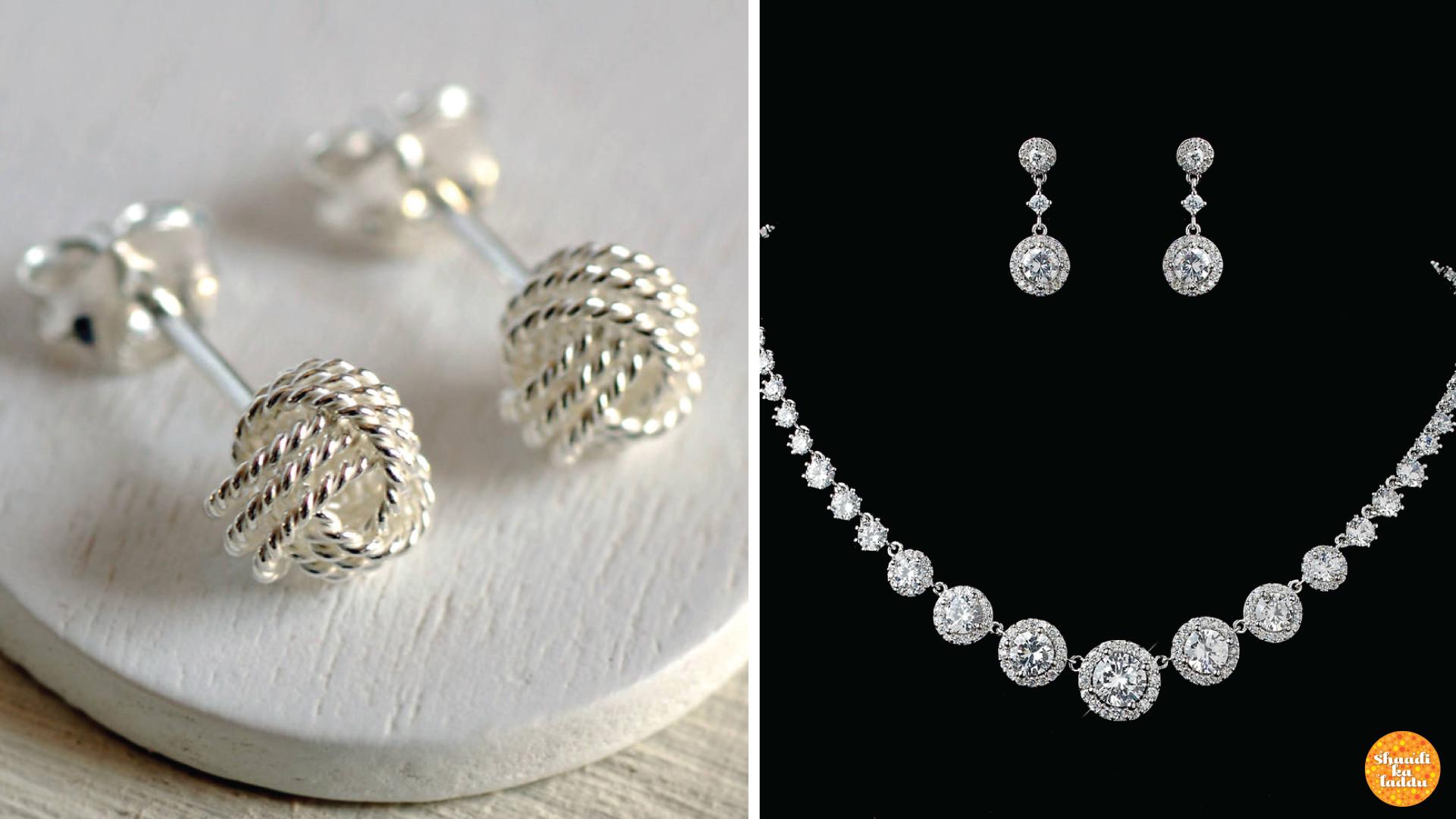 Blue stone wedding jewellery collection
