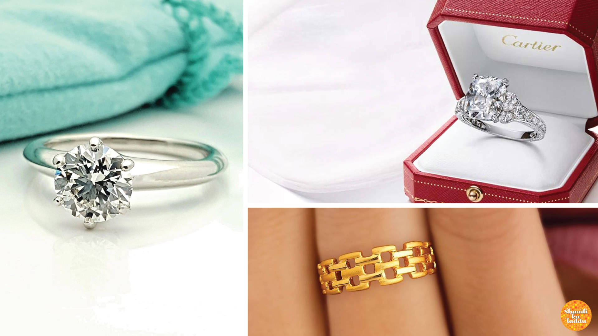 Engagement ring collection from Cartier