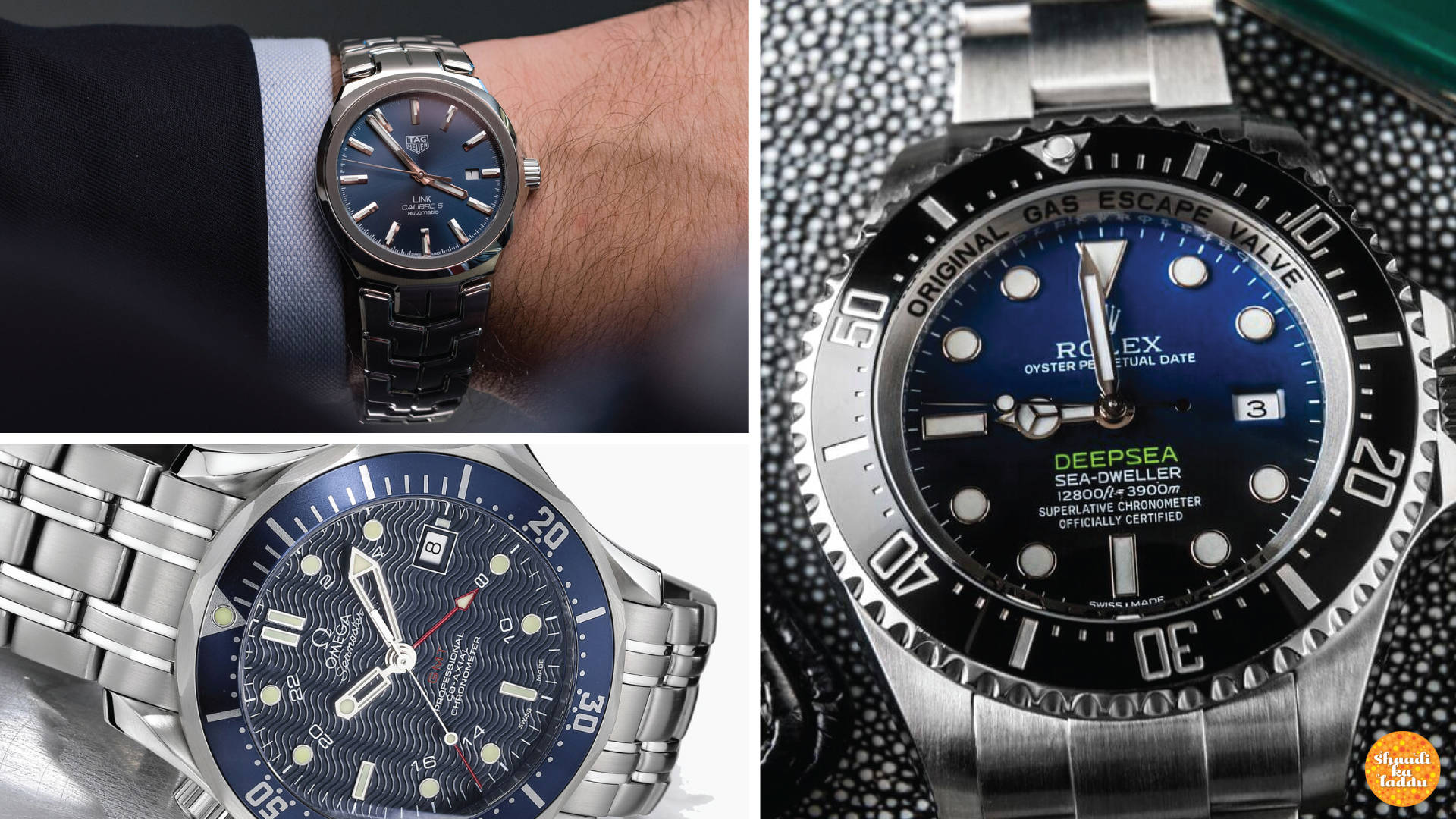 High end men's wrist watches
