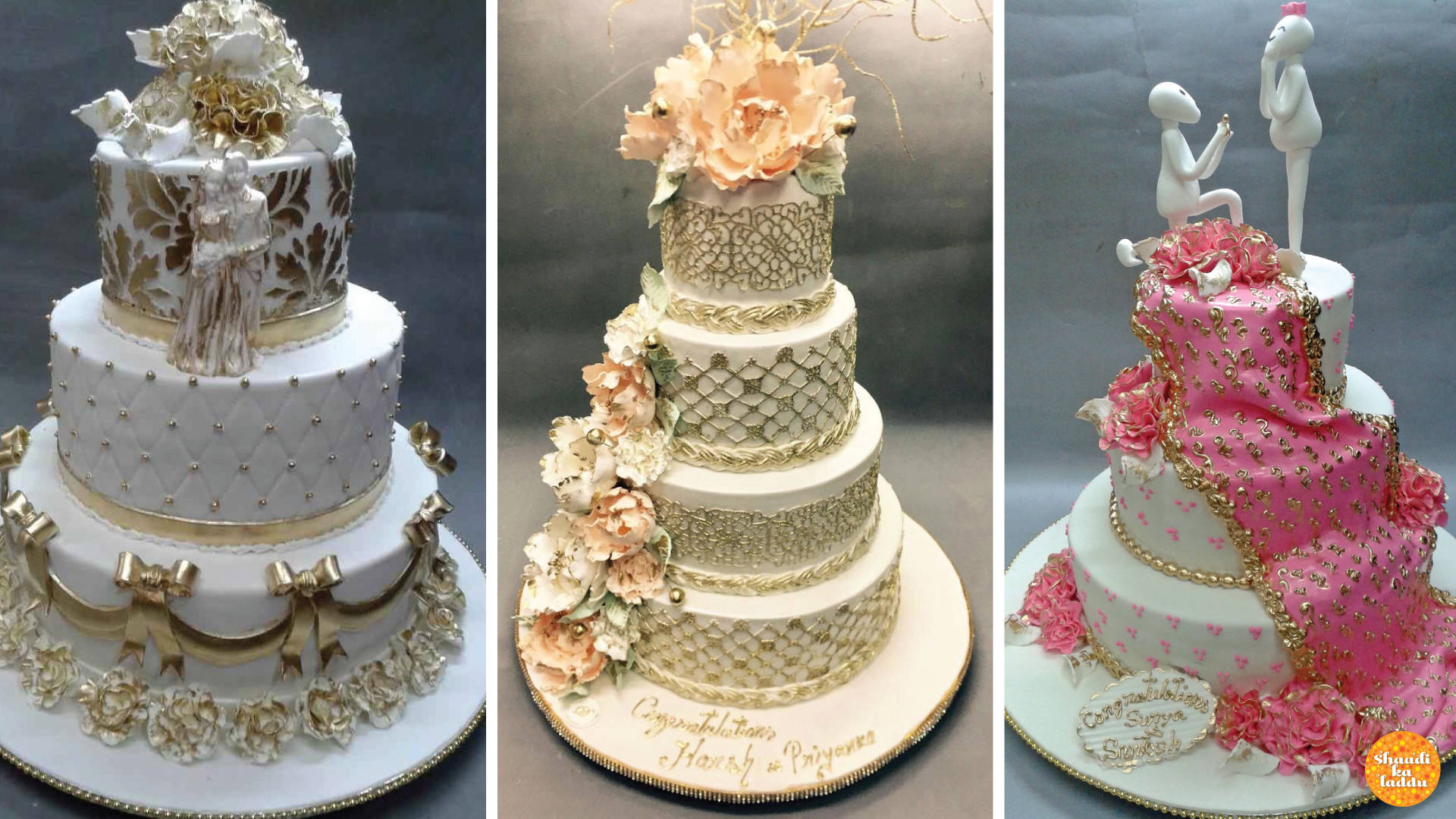 Wedding cakes from Deliciae Patisserie, Mumbai