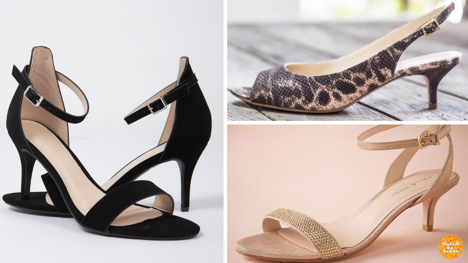 Sandals with Kitten heels
