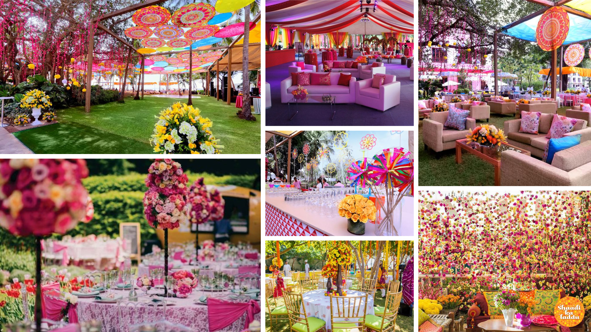 colorful and creative wedding ceremony decorations by wedding planner