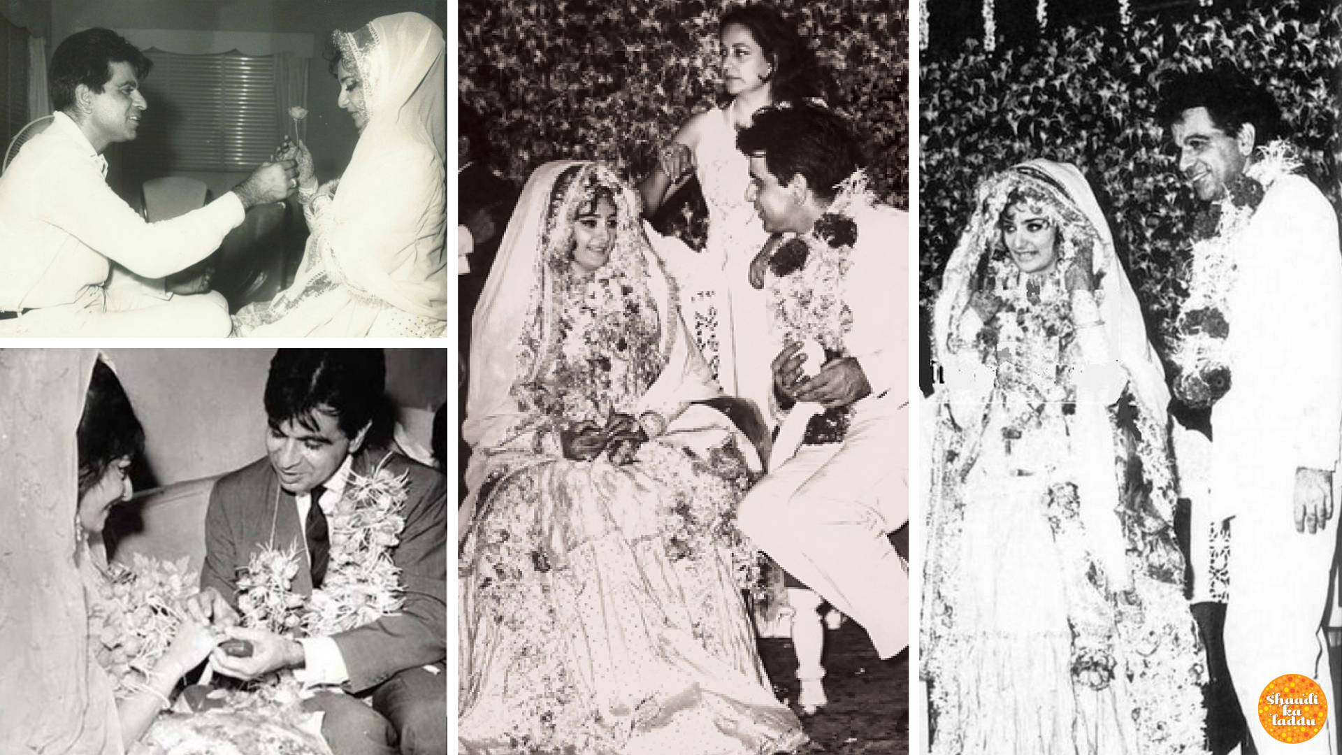 Wedding pictures of Dilip Kumar and Saira Banu