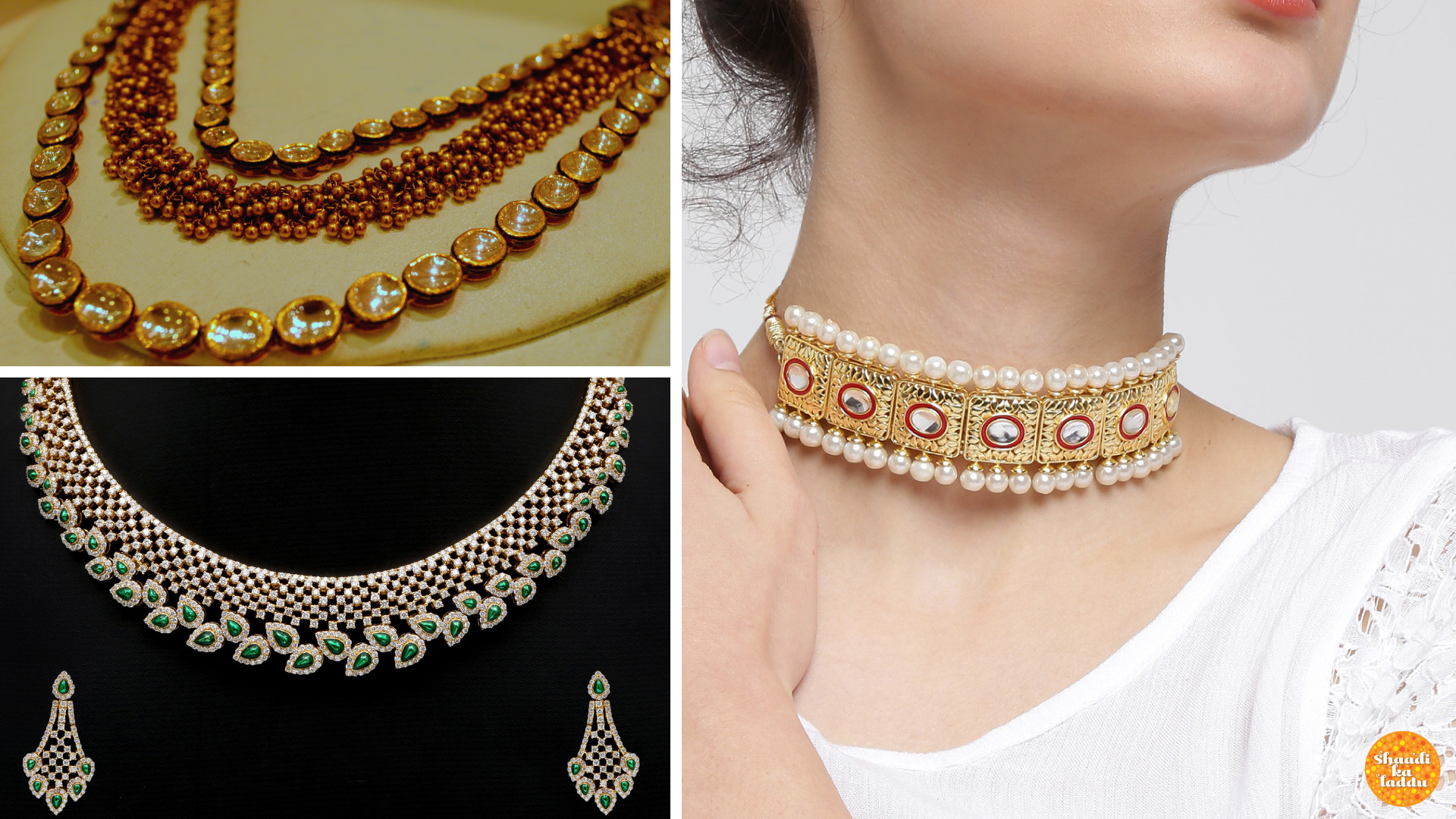 Gem studded chokers