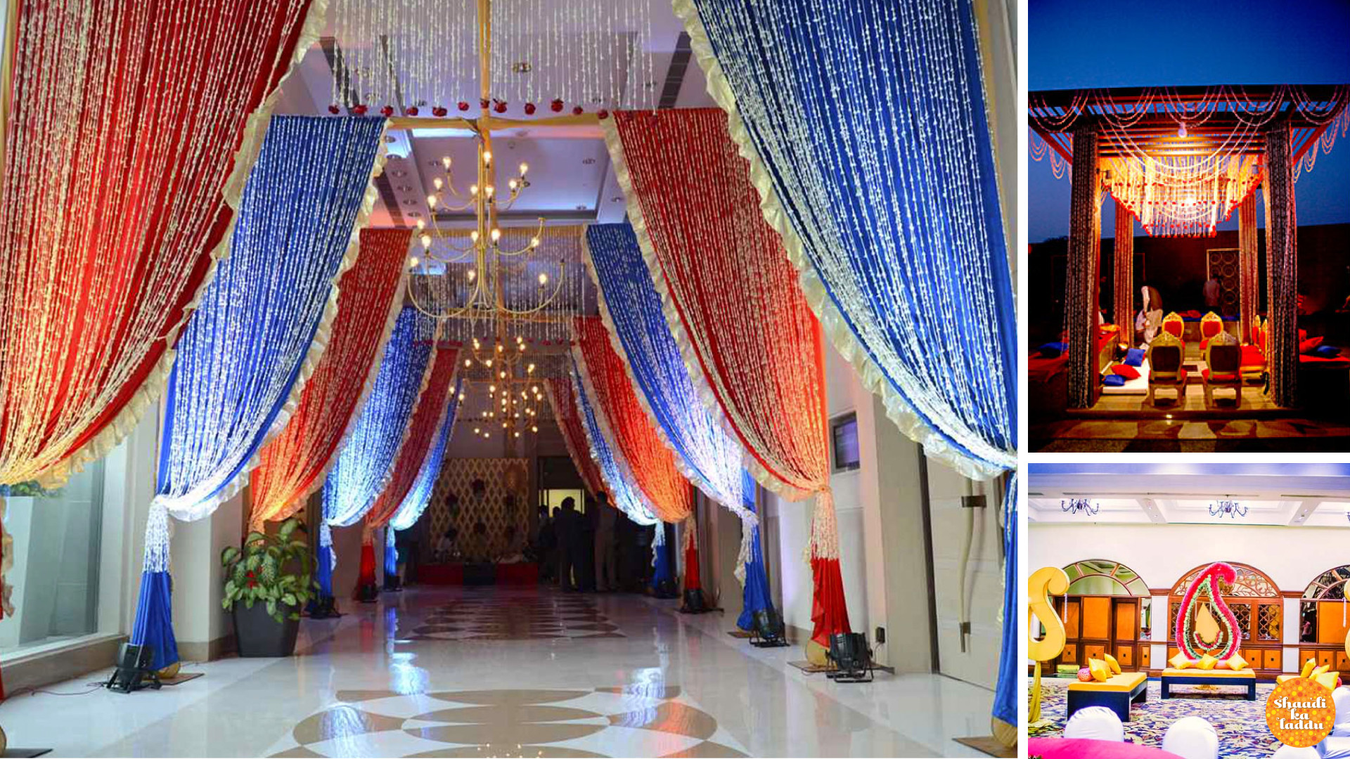 Royale and elegant filmy wedding decorations for indian wedding with use of creative designs and 3D conceptualization
