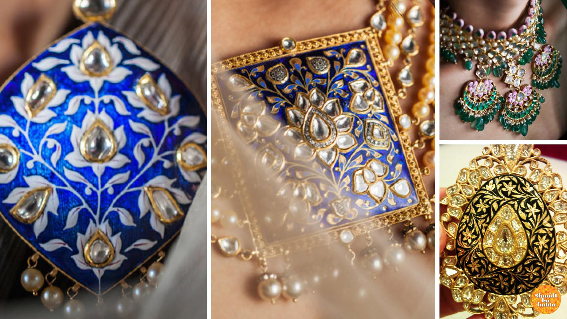 Beautiful ensemble of Jaipur meenakari jewellery