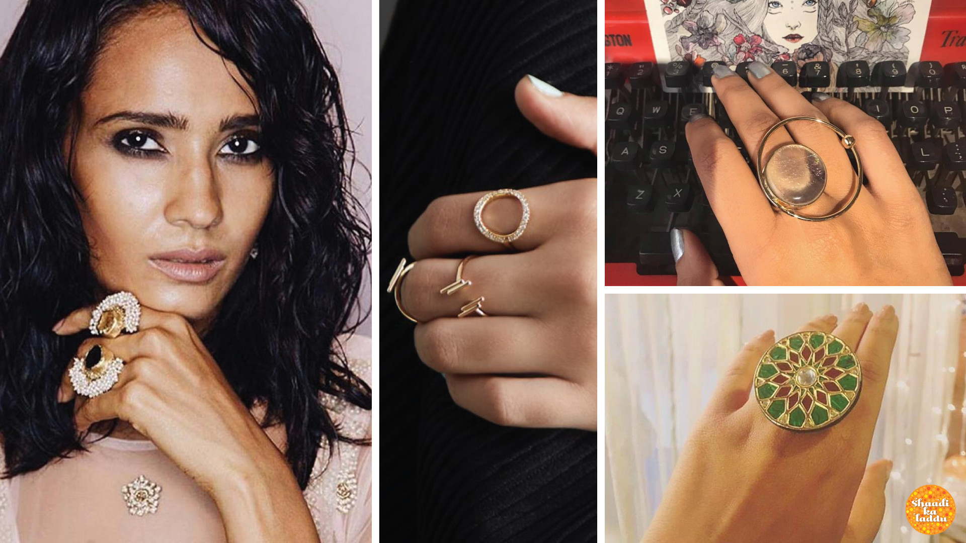 Wide range of chunky rings to stackable from Nimai stores