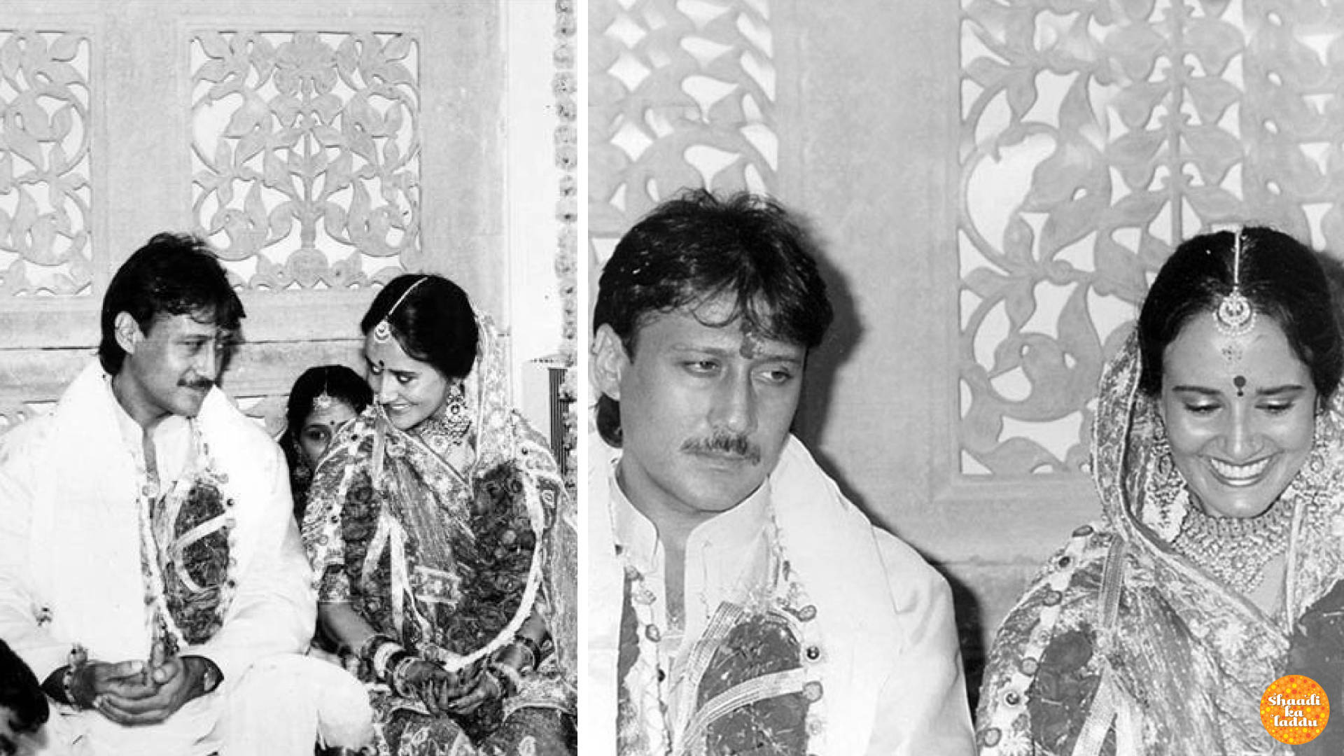 Wedding pictures of Jackie Shroff and Ayesha Dutt