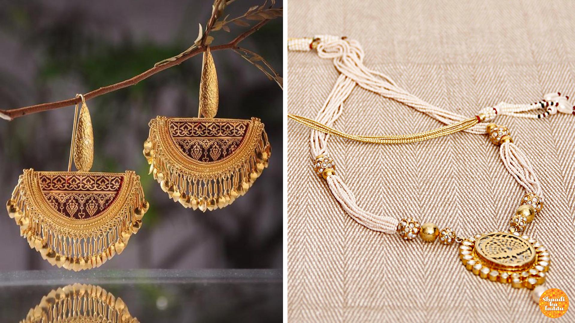 Gold embedded molten glass jewellery, Jaipur Thewa artistic jewellery