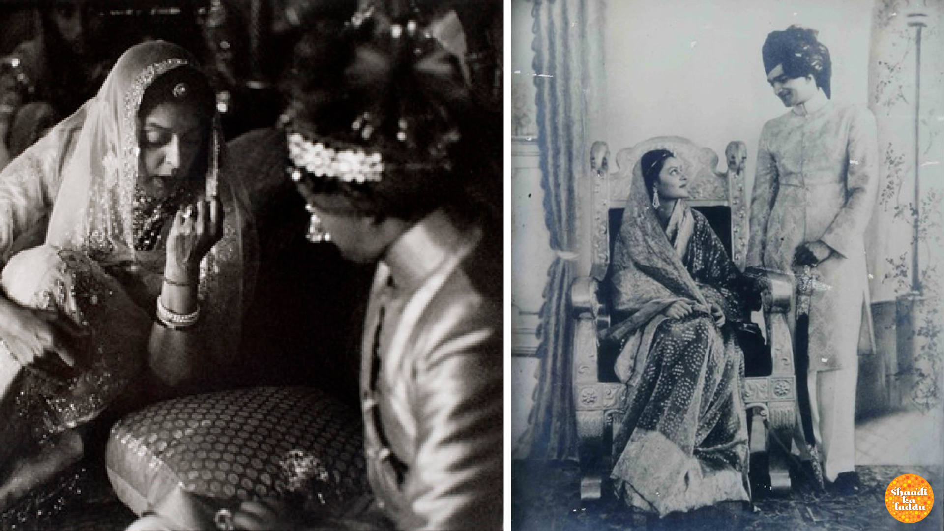 Wedding pictures of Gayatri Devi of Jaipur to Maharaja Sawai Man Singh II