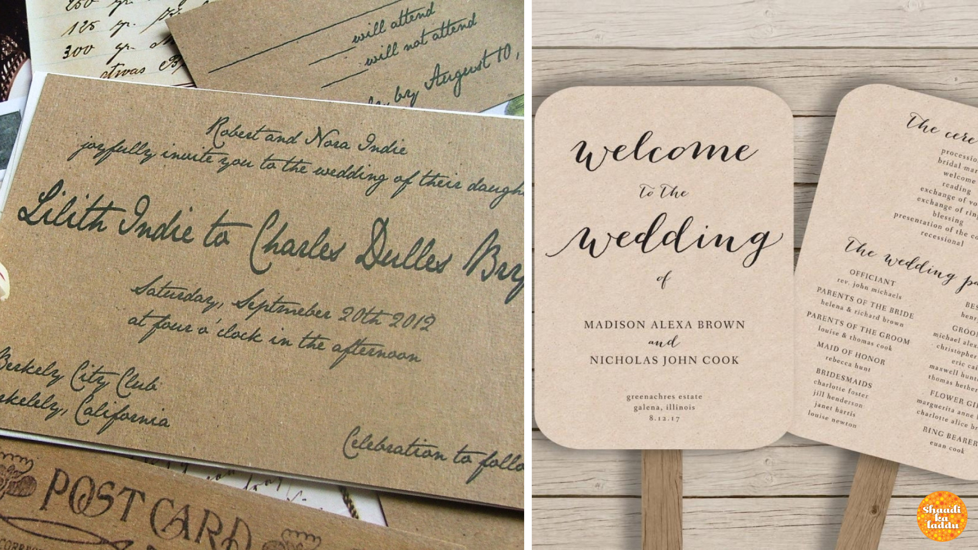 Calligraphy - Handwritten Invites