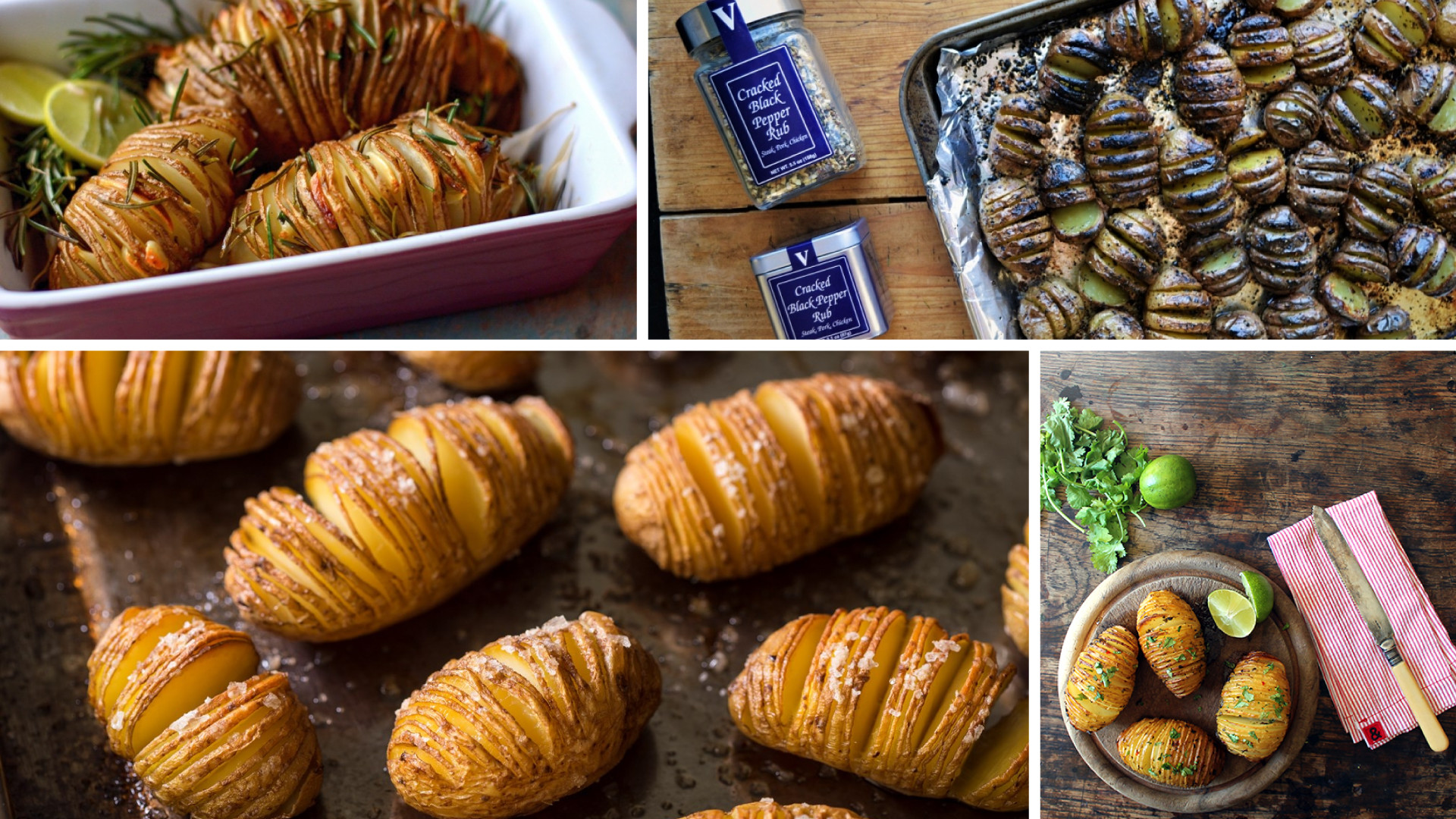 Hasselback Potatoes with Black Pepper