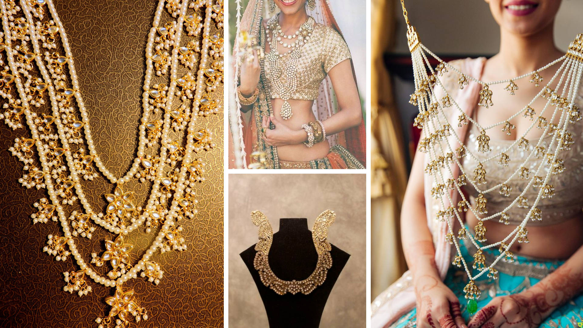 Layered Pearls / Maharani Style Neck-pieces