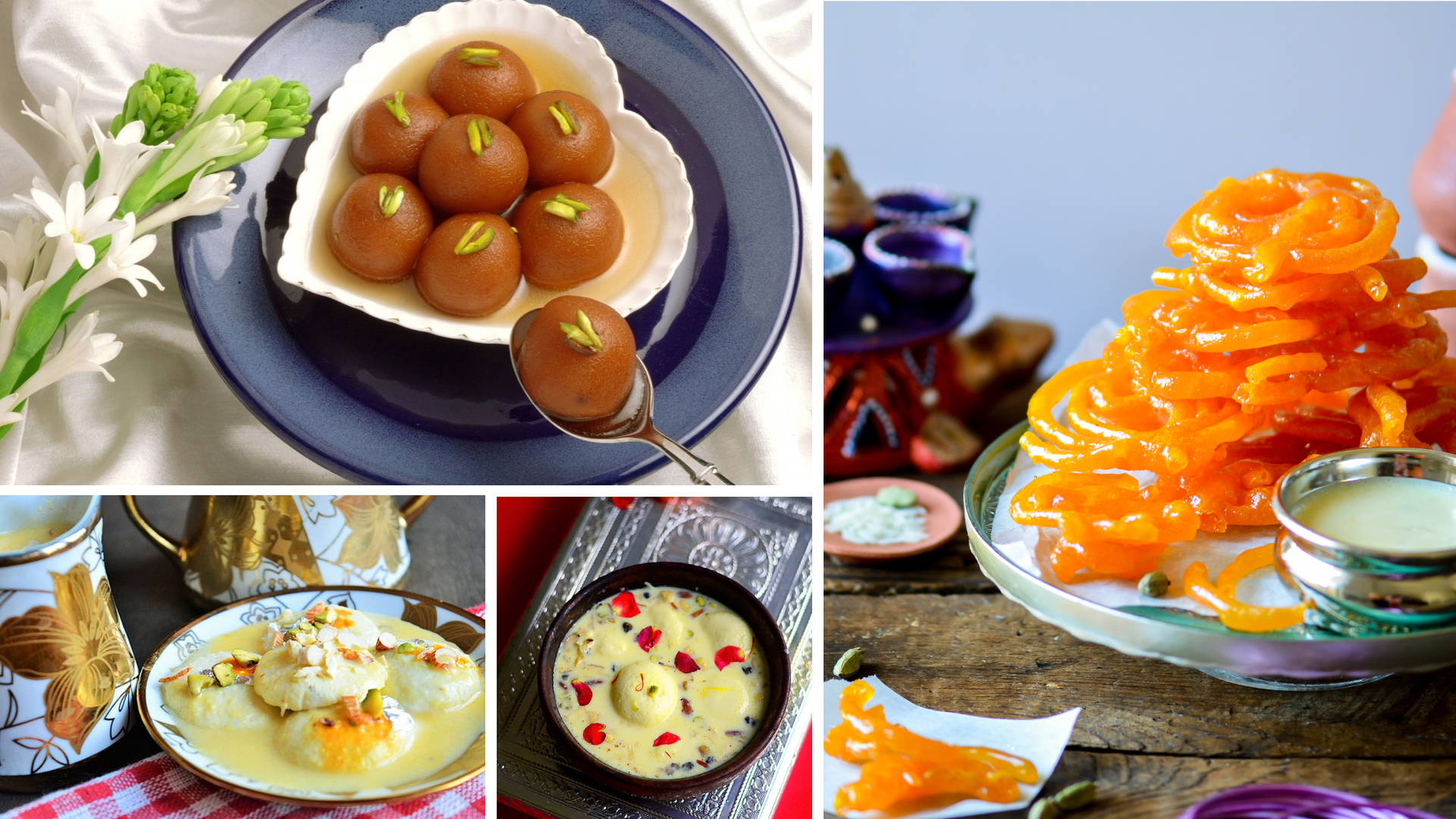 A Gulab Jamun, Jalebi And Ras Malai Counter
