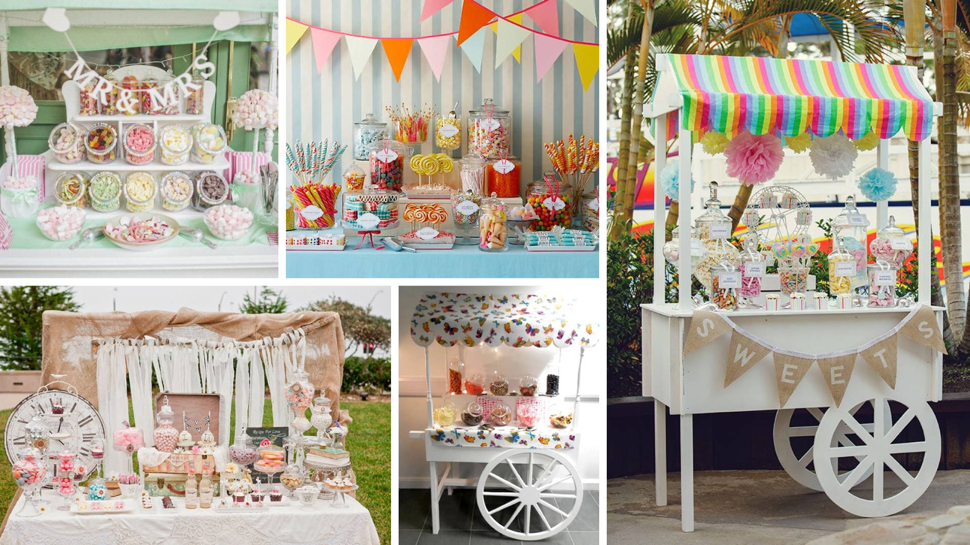 A Chocolate And Candy Stall